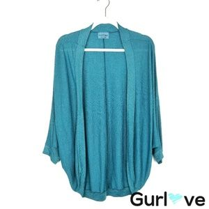 Michael Stars Teal Stretch Open Cardigan One Size
